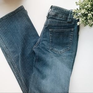 Anthropologie Louie Pinstripe Bootcut Jeans